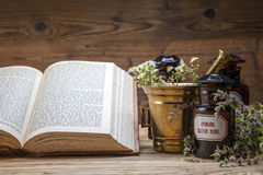 The ancient natural medicine, herbs and medicines Stock Images