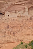 Ancient Navajo indian village. Remains of an ancient Navajo indian village in Canyon de Chelly, United States Royalty Free Stock Images