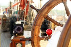 Ancient navigation equipment sailing ship Royalty Free Stock Images