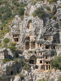 Ancient Necropolis. In Myra, Turkey Stock Image