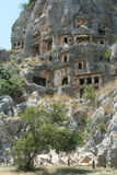 Ancient Necropolis in Myra Stock Photography