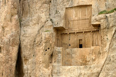 Ancient necropolis in Pars Province, Iran. Naqsh-e Rustam, an ancient necropolis in Pars Province, Iran Royalty Free Stock Images
