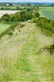 Ancient neolithic ditch and bank Stock Images