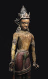 Ancient Nepal Statue Isolated. Stock Images