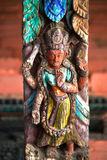 Ancient Nepalese wooden carving Royalty Free Stock Photos