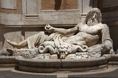 Ancient Neptune Statue Capitoline Museum Rome Royalty Free Stock Image