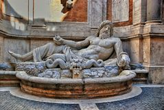 Colossal statue restored as Oceanus: Marforio Stock Photography