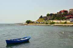 Ancient Nessebar town. View from the sea on the ancient Nessebar town in Bulgaria Stock Photos