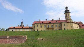 Ancient Nesvizhsky Castle in Belarus stock video footage