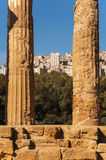 Ancient and new Agrigento Stock Image