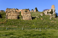 Ancient Nicopolis at Greece,. Ancient Nicopolis site at Preveza city of Greece, Avgoustus monument Stock Photography