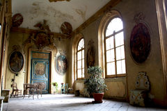 Ancient nobility decayed II. Ancient palace of a noble family of Fano (Italy Royalty Free Stock Images