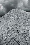 Ancient Nordic Runestone Stock Image