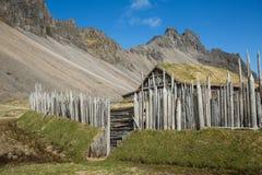 Ancient Nordic Viking Village Stock Photos