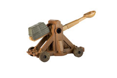 An ancient Norman Catapult toy Royalty Free Stock Photos
