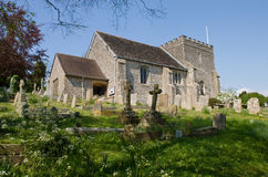 Ancient Norman Church in the English Countryside Stock Photo