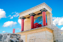 Ancient North Entrance to the Knossos palace Royalty Free Stock Photo