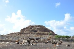 The ancient Nuraghe of Seruci, Sardinia. Italy royalty free stock photography