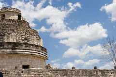 Ancient observatory in Chichen Itza. Fragment. Stock Image