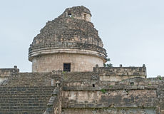 An ancient observatory  in Chichen Itza Mayan city, Mexico Stock Images