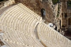 Ancient Odeon in Acropolis Royalty Free Stock Image