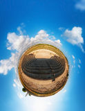 Ancient Odeon. Paphos District. Cyprus. Little planet Stock Image