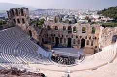 Ancient Odeum Of Acropolis Royalty Free Stock Photography