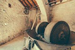 Ancient oil mill Laneia Cyprus Stock Photos