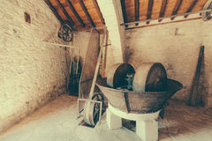 Ancient oil mill Laneia Cyprus Royalty Free Stock Photos