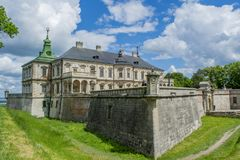 Ancient old amazing Pidhirtsi castle Stock Photography
