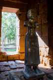An ancient old angels statue Angel of ingenuity  in Mueang Sing Historical Park, Kanchanaburi Thailand. Stock Image