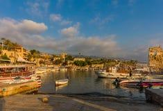 Byblos Jbeil Ancient old harbour port Lebanon Royalty Free Stock Images