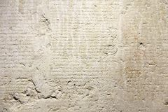 Ancient and Old Historical Antique Greek Text on Clay Tablets. F stock image