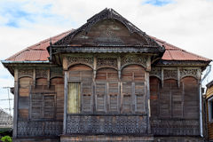 The ancient old house. Abandoned in Thailand Royalty Free Stock Photos