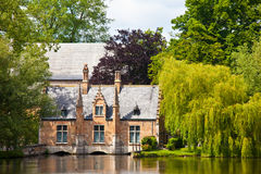 Ancient old house in brugge in sunny weather Royalty Free Stock Photography
