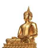 Ancient old scratch golden buddha Stock Photos
