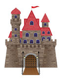 Ancient old stone castle vector illustration Royalty Free Stock Image