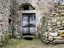 Ancient old stone doorway, Italian. Architectural heritage. Royalty Free Stock Photography