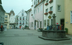 Ancient old town. Isny im Allgau Stock Image
