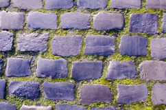 Ancient old town pavement bricks Royalty Free Stock Images