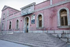 Ancient old train station in Castellon,Spain.  Royalty Free Stock Image