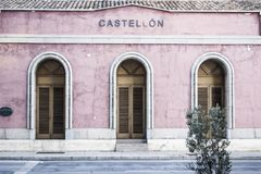 Ancient old train station in Castellon,Spain.  Stock Photography