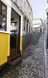 Ancient and old tram of Lisbon Royalty Free Stock Photos