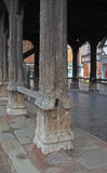 Ancient Old Wooden Pillar Stock Images