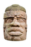 Ancient olmec head Royalty Free Stock Image