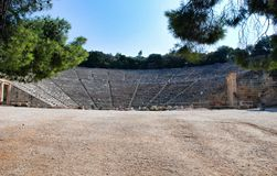 Epidaurus small city in ancient Greece Stock Image