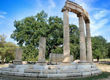 Ancient Olympia archaeological site in Greece royalty free stock photo