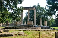 Ancient Olympia archaeological site in Greece Royalty Free Stock Images