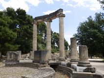 Ancient greek temple royalty free stock photos