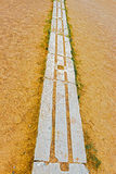 Ancient Olympia stadium, starting line. Stock Photography